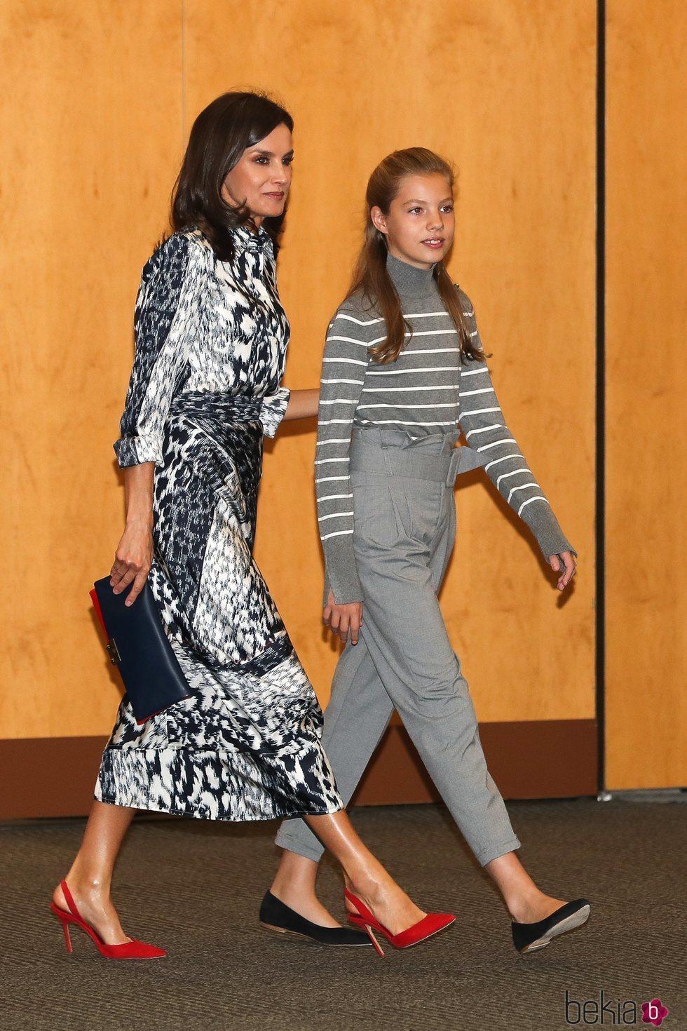 La Reina Letizia y la Infanta Sofía en la jornada 'El talento atrae al talento' de la Fundación Princesa de Girona