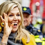 Máxima de Holanda, muy sonriente en un acto en Utrecht