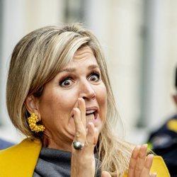 Máxima de Holanda, asustada en un acto en Utrecht