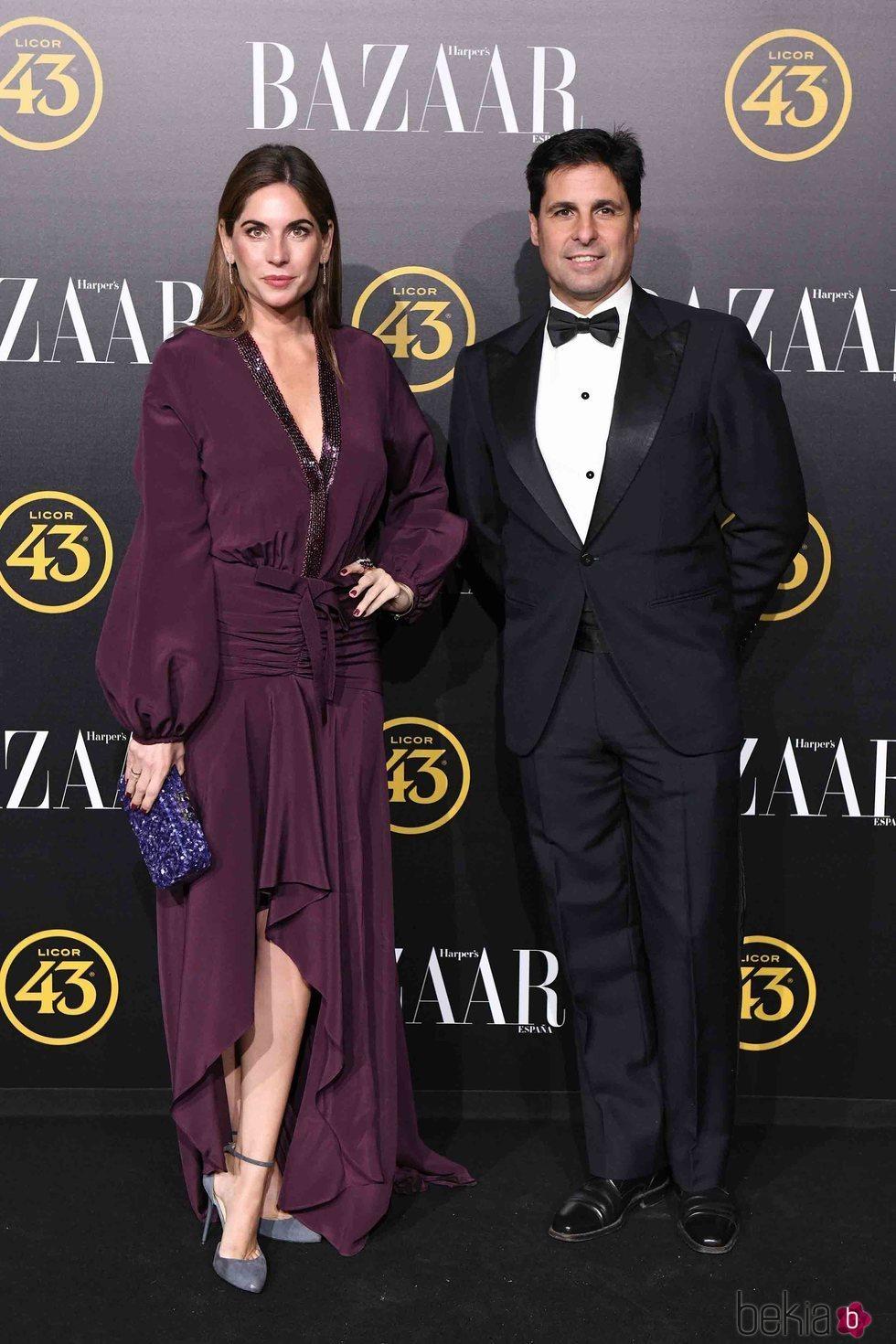 Lourdes Montes y Fran Rivera en los premios Harper's Bazaar 2019