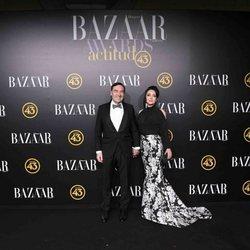 Pedro J. Ramírez y Cruz Sánchez en los premios Harper's Bazaar 2019