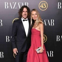 Carles Puyol y Vanesa Lorenzo en los premios Harper's Bazaar 2019