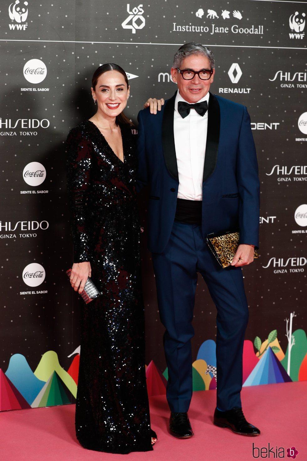 Tamara Falcó y Boris Izaguirre en Los 40 Music Awards 2019