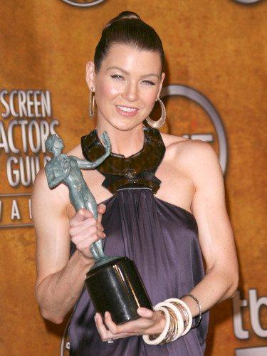 Ellen Pompeo recibe el Premio del Sindicato de Actores en 2007