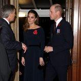 El Príncipe Guillermo y Kate Middleton llegando al concierto por el Día del Recuerdo 2019