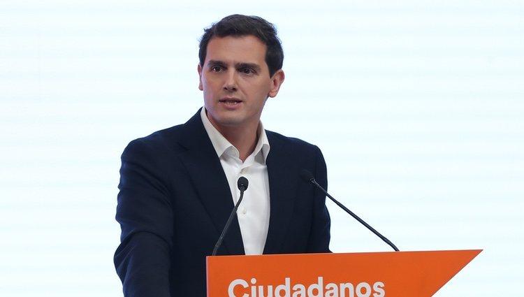Albert Rivera anunciando su dimisión como Presidente de Ciudadanos