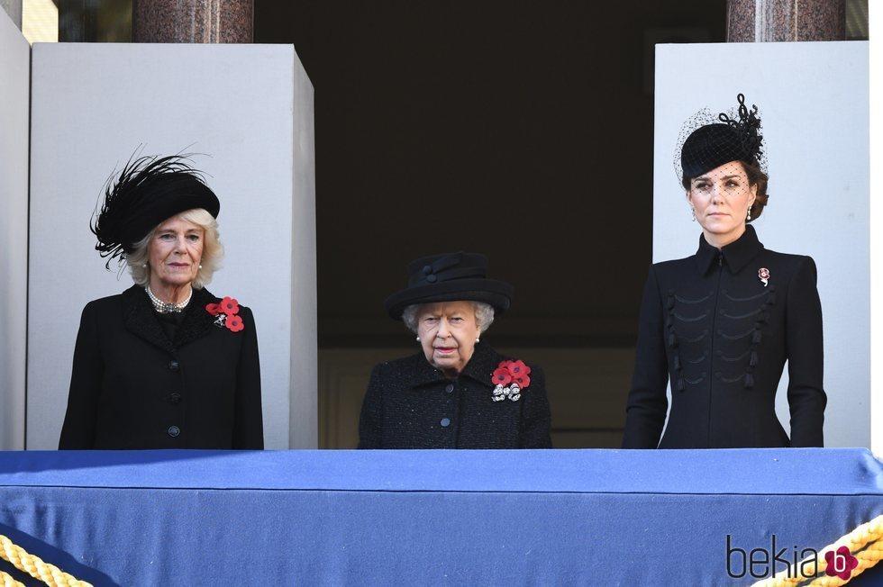La Reina Isabel, Camilla Parker y Kate Middleton en el Día del Recuerdo 2019