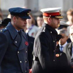 Los Príncipes Guillermo y Harry en el Día del Recuerdo 2019