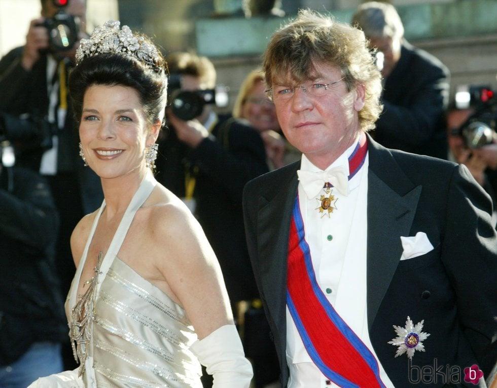 Carolina de Mónaco y Ernesto de Hannover en la cena de gala previa a la boda de Federico de Dinamarca y Mary Donaldson