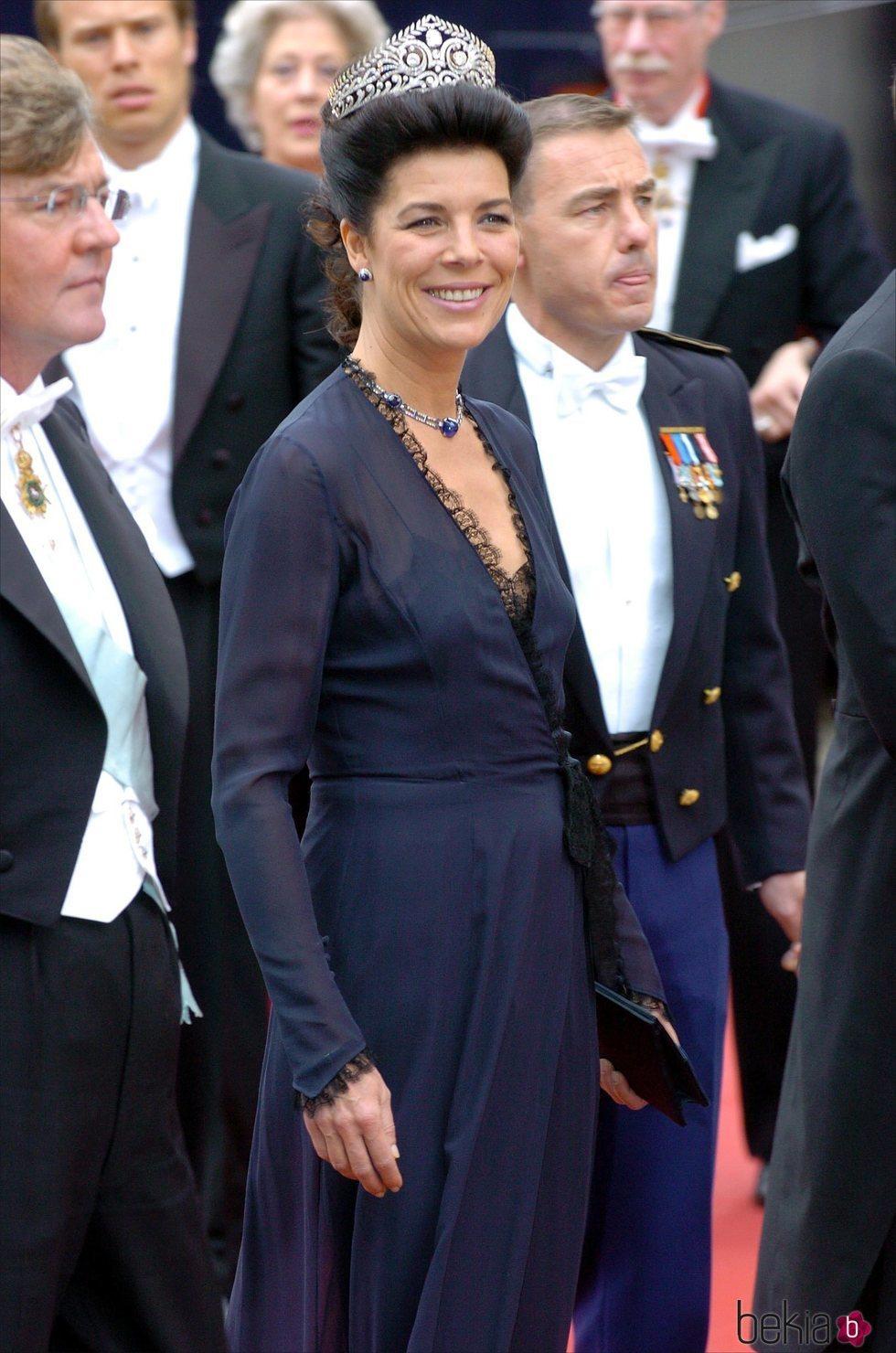 Carolina de Mónaco en la boda de Federico de Dinamarca y Mary Donaldson