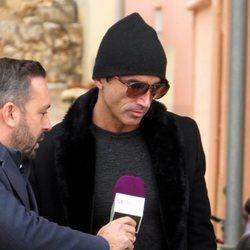 Hugo Sierra hablando con Kike Calleja en Palma de Mallorca