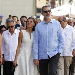 Los Reyes Felipe y Letizia en La Habana Vieja