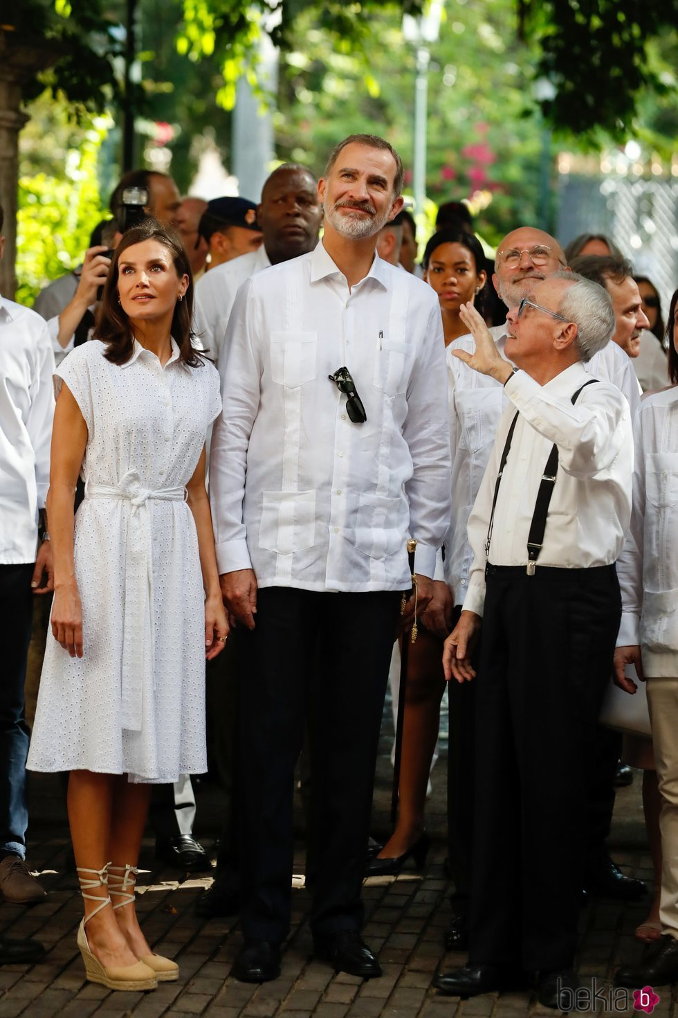 Los Reyes Felipe y Letizia en El Templete de la Plaza de Armas de La Habana Vieja