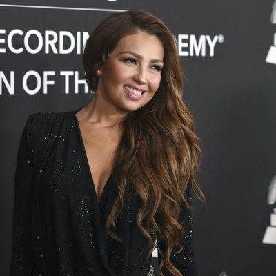 Thalia en la alfombra roja del premio Persona del Año 2019 en los Grammy Latino