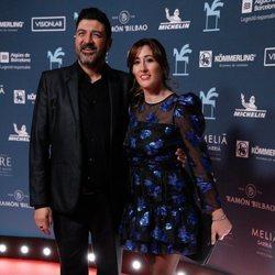 Tony Aguilar y su mujer en los Premios Ondas 2019