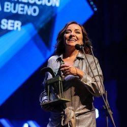 Pepa Bueno agradeciendo su Premio Ondas 2019