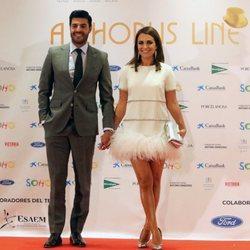 Miguel Torres y Paula Echevarría en la inauguración del Teatro del Soho en Málaga