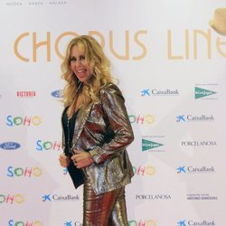 Miriam Díaz-Aroca en la apertura del teatro de Antonio Banderas, 'Teatro del Soho'