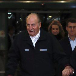El Rey Juan Carlos I en una cena con autoridades políticas en Sanxenxo (Galicia)