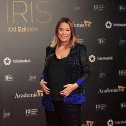 Toñi Moreno en la alfombra roja de los Premios Iris 2019