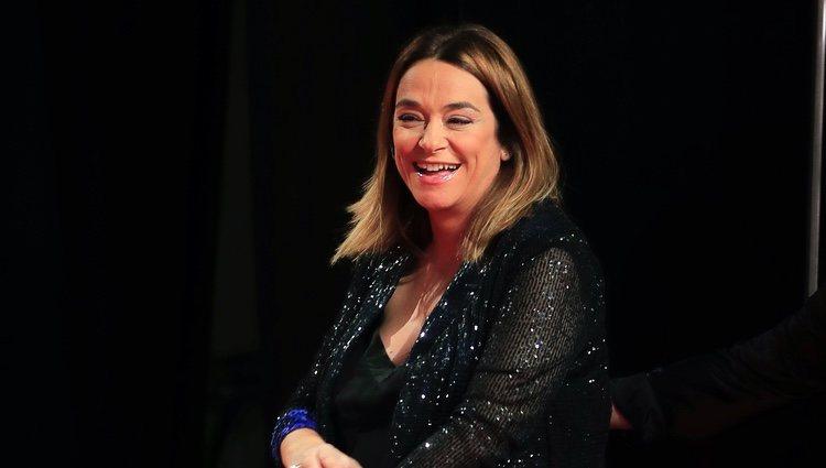 Toñi Moreno llega sonriente a la alfombra roja de los Premios Iris 2019