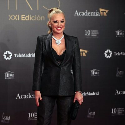 Belén Esteban en la alfombra roja de los Premios Iris 2019