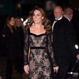 Kate Middleton muy sonriente en la Royal Variety Performance 2019