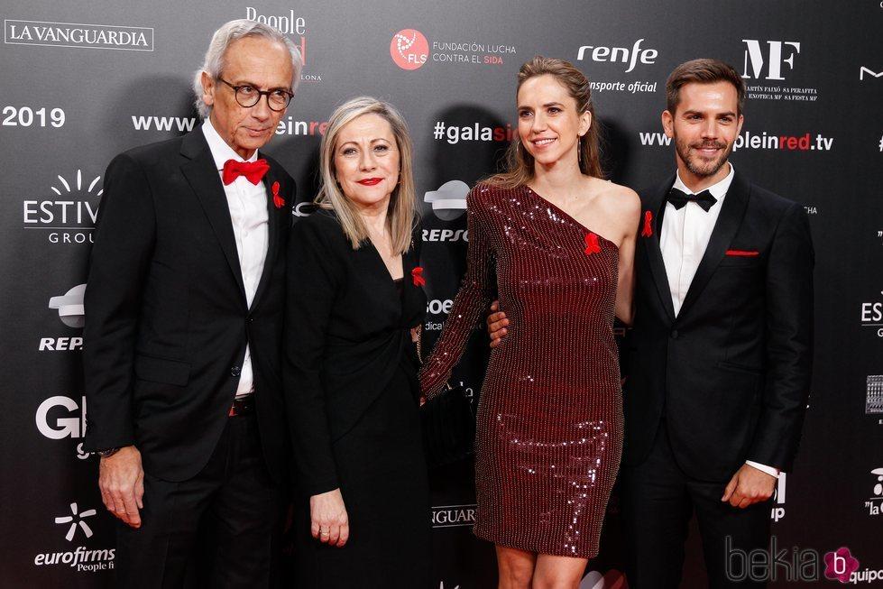 Bonaventura Clotet, Anna Fresquet, Aina y Marc Clotet en la gala People in Red 2019