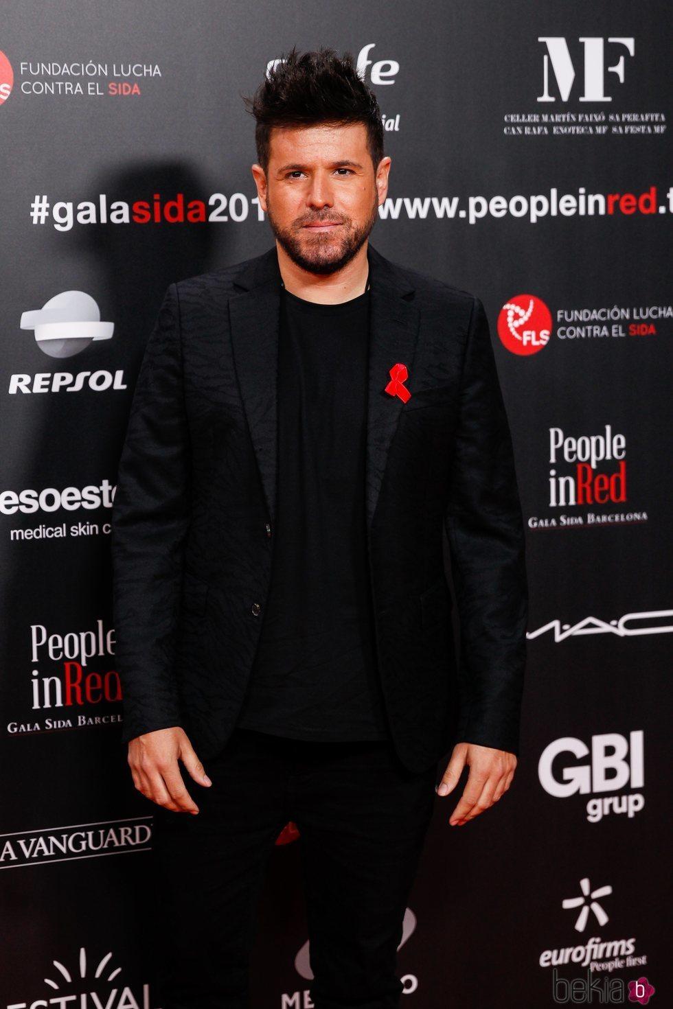Pablo López en la gala People in Red 2019