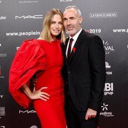 Martina Klein y Alex Corretja en la gala People in Red 2019