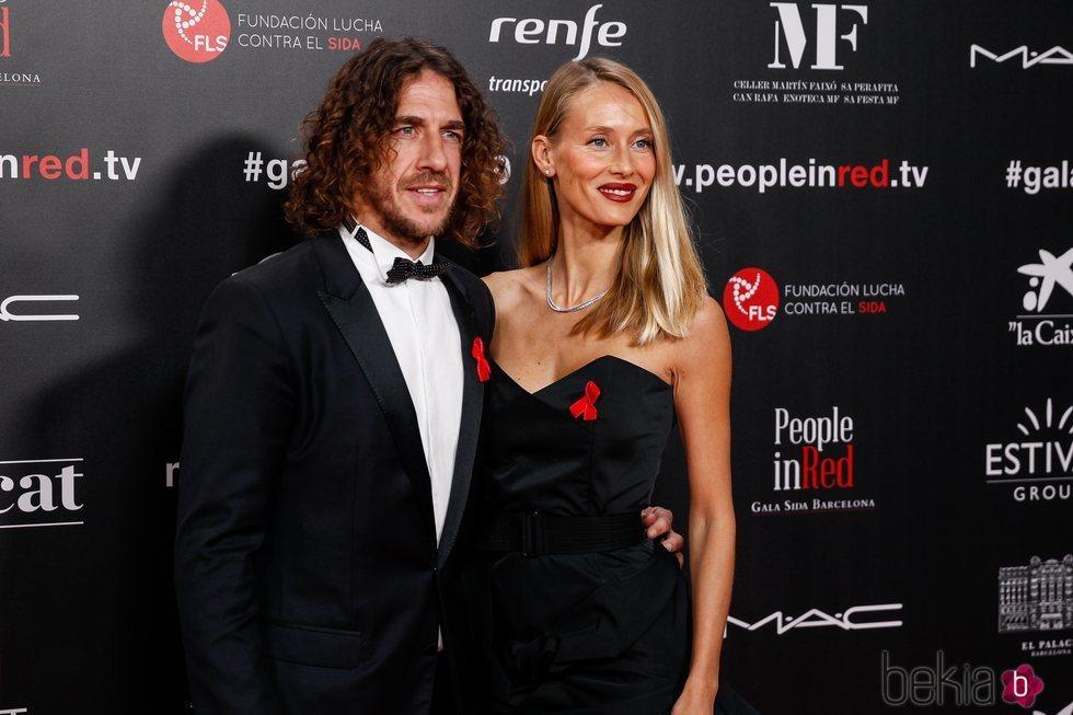 Carles Puyol y Vanesa Lorenzo en la gala People in Red 2019