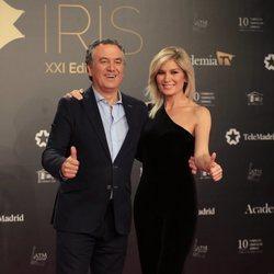 Roberto Brasero y Sandra Golpe en los Premios Iris 2019