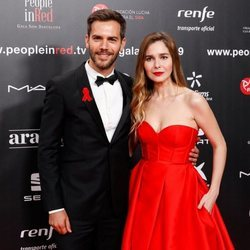 Marc Clotet y Natalia Sánchez en la gala People in Red 2019