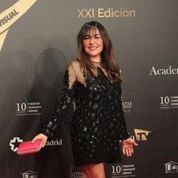 Candela Peña en la alfombra roja de los Premios Iris 2019