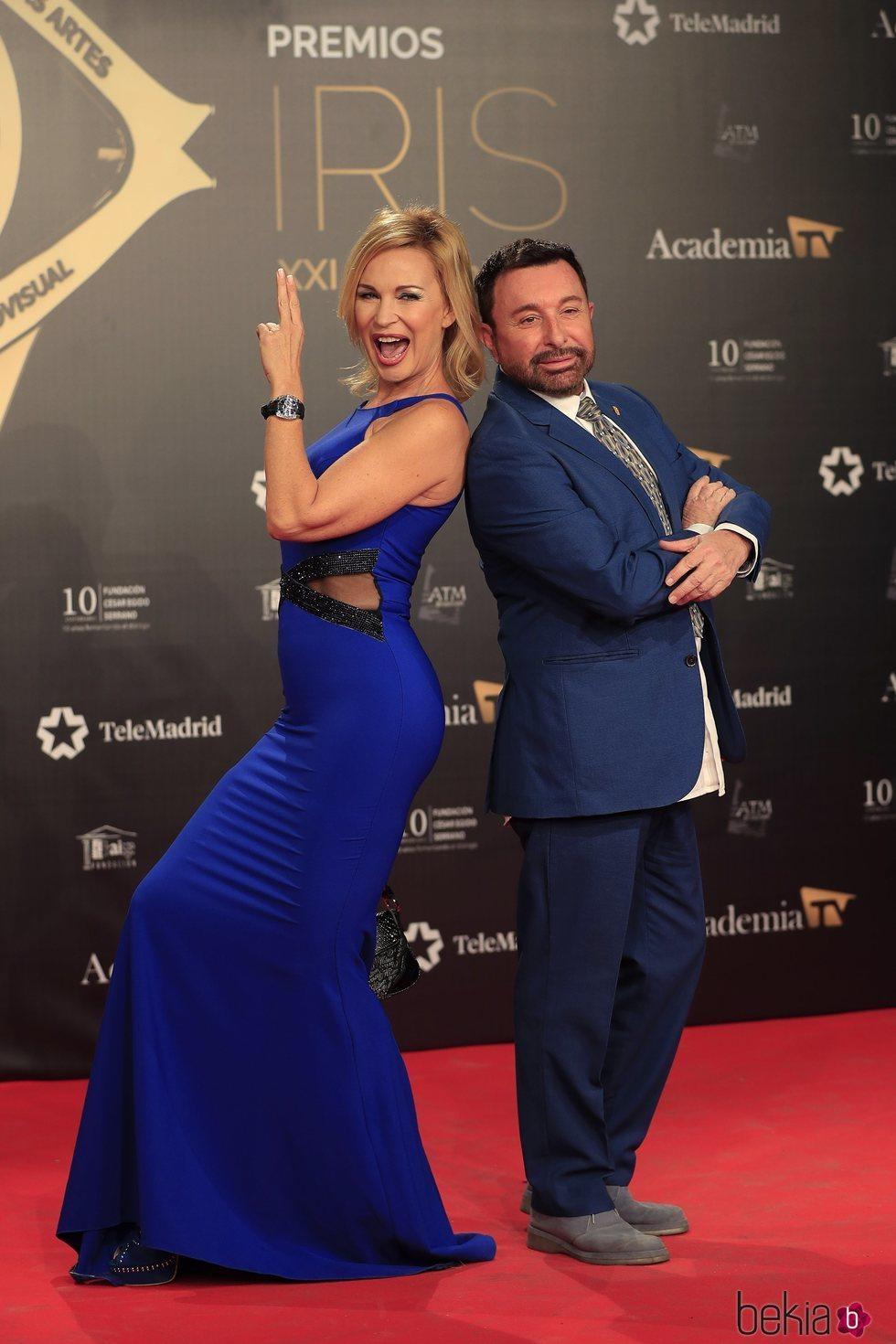Marlene Morreau y José Manuel Parada en los Premios Iris 2019