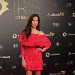 Paula Prendes en la alfombra roja de los Premios Iris 2019