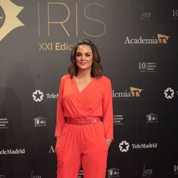 Mónica Carrillo en la alfombra roja de los Premios Iris 2019