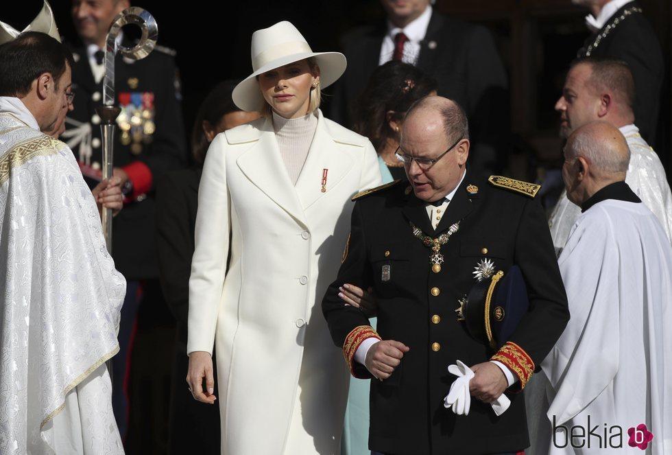 Alberto y Charlene de Mónaco en el Día Nacional de Mónaco 2019