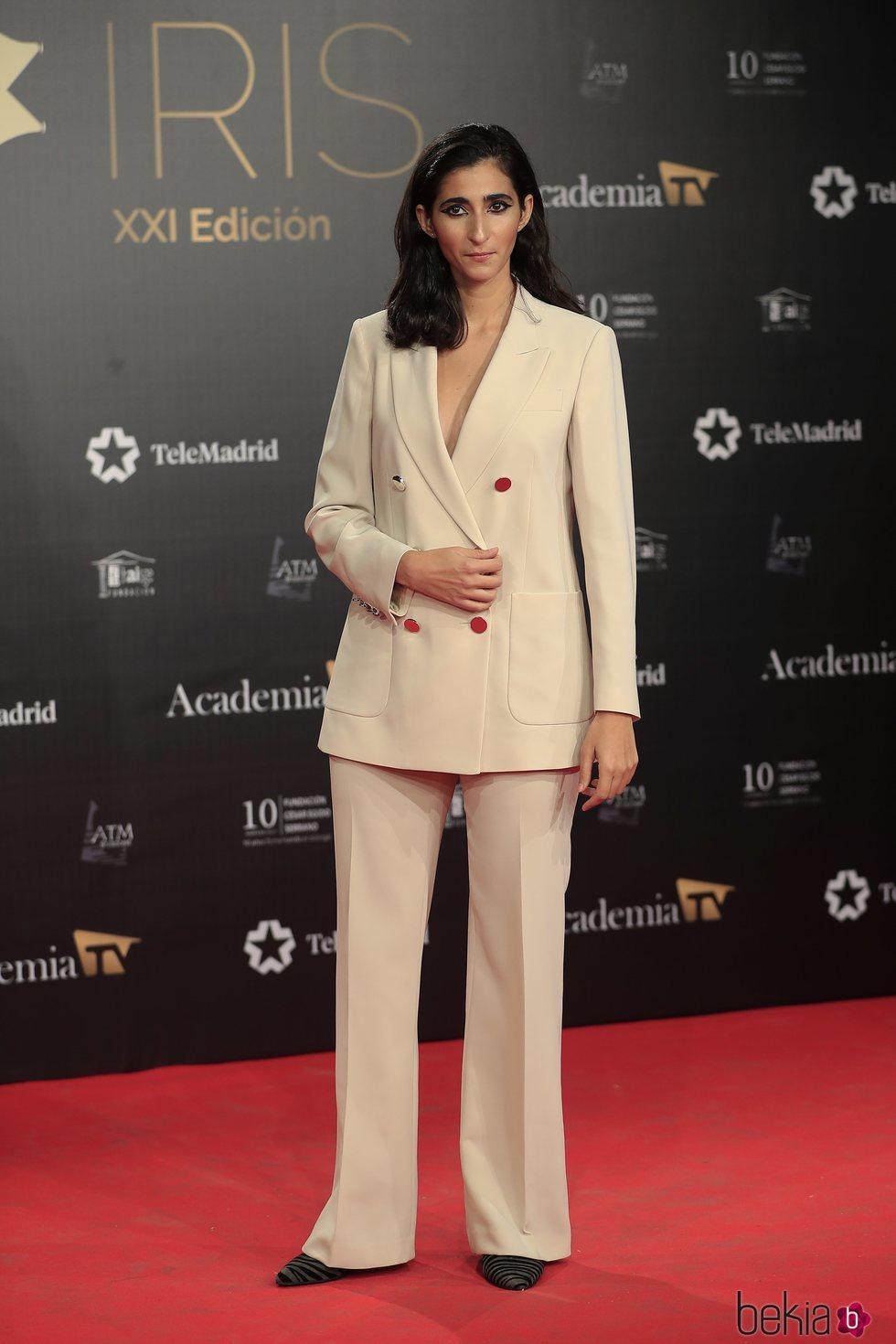 Alba Flores en la alfombra roja de los Premios Iris 2019
