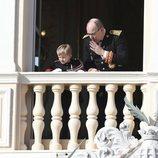 Alberto de Mónaco y su hijo Jacques de Mónaco en el Día Nacional de Mónaco 2019