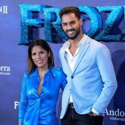Chabelita Pantoja y Asraf Beno en el estreno de 'Frozen 2'