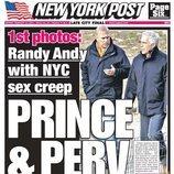 Portada del New York Post con el Príncipe Andrés y Jeffrey Epstein