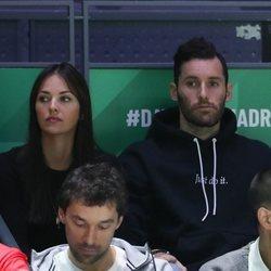 Helen Lindes y Rudy Fernández en la Copa Davis 2019