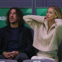 Carles Puyol y Vanesa Lorenzo en la Copa Davis 2019
