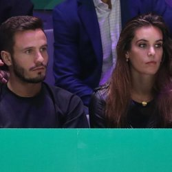 Saúl Ñíguez y Ona Carbonell en la Copa Davis 2019