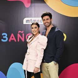 Bea Retamal y Noel Bayarri en la celebración del tercer aniversario de MTMAD