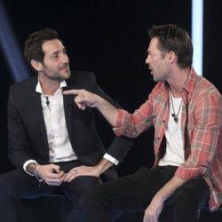 Antonio David Flores y Hugo Castejón discutiendo en la sala de expulsión en la gala 12 de 'GH VIP 7'