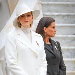 Charlene de Mónaco y Estefanía de Mónaco en el Día Nacional de Mónaco 2019