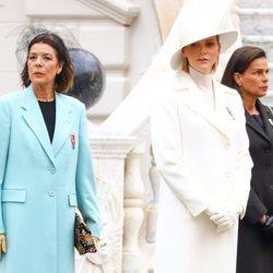 Carolina de Mónaco, Charlene de Mónaco y Estefanía de Mónaco en el Día Nacional de Mónaco 2019