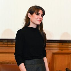 Carlota Casiraghi en la entrega de premios de un concurso literario en París